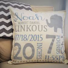 personalized pillows for baby shop baby announcement pillow on wanelo
