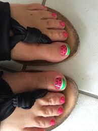 watermelon toes nail art pinterest pedicures pedicure ideas