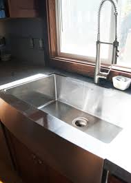 decor 40 inch stainless apron sink with center drain for kitchen