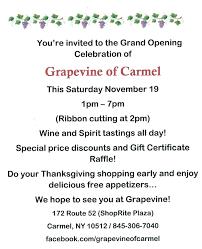 shoprite hours thanksgiving grapevine of carmel grand opening celebration u2013 the mahopac carmel