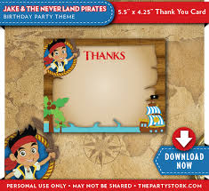 jake and the neverland birthday jake and the neverland birthday thank you cards the