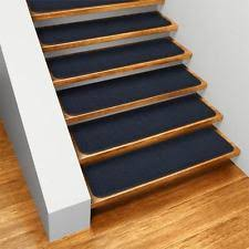 Navy Blue Runner Rug Stair Treads In Color Blue Ebay