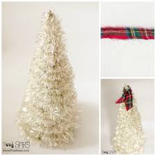 vintage funnel and tinsel trees sew a fine seam