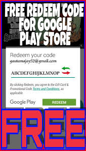 free play gift card redeem code how to get free redeem code for play store 2017