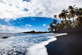 black sand beach hawaii punalu u black sand beach the travel agent