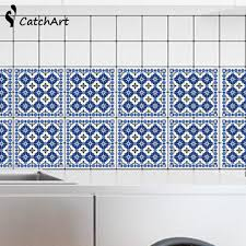 self adhesive wallpaper blue 10 pcs pvc wall sticker bathroom waterproof self adhesive
