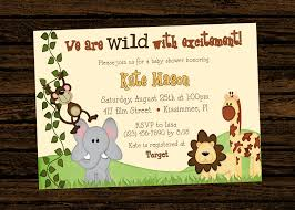 Invitation Cards For Birthday Party For Boys Custom Baby Shower Jungle Themed Birthday Party Invitations
