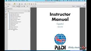 padi instructor manual how to use youtube