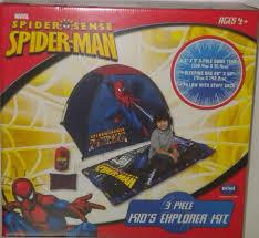 amazon com marvel spider man kids explorer camp kit tent pillow