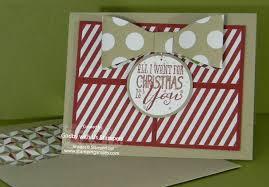handmade christmas card stamping smiles