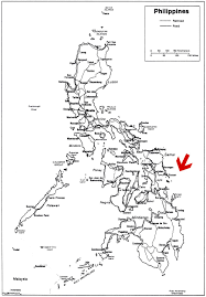 Map Of Phillipines Travel Guiuan Guiuan As Shown In The Map Of The Philippines