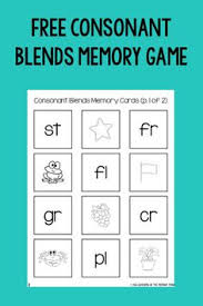 beginning blends free activity display charts and activities for