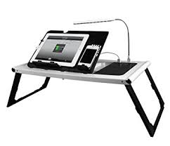 amazon com smart charging table portable adjustable bed tray