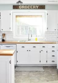 White Shaker Style Kitchen Cabinets Farmhouse Cottage Kitchen Reveal White Cabinets Pewter And Hardware