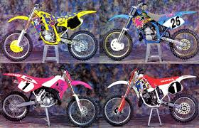 125 motocross bikes 1992 sure was a colorful year for motocross moto related