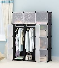 amazon com kousi portable clothes closet modular wardrobe