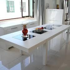 cuisine en marbre table cuisine marbre blanc cuisine salle manger en marbre haut