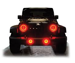 jeep headlights halo 10 off oracle headlight halo kits for wrangler forum members