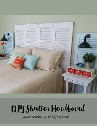 Headboards Made From Shutters with Diy Shutter Headboard From Garage Sale Shutters