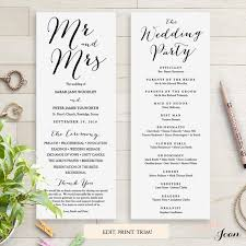 where to print wedding programs wedding programs instant template sweet bomb edit