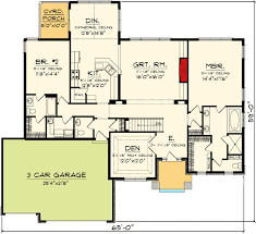 ranch floor plans open concept open concept house plans with a hearth room plan w89850ah open