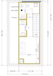 Basement House Floor Plans by Flooring Narrow Row House Floor Plans Google Search Plan With