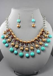 real stone necklace images Pearl bead natural stone bronze necklace 104701br 17 99 jpg