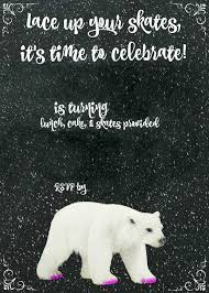 ice skating birthday party invitations polar bear ice skating party brie brie blooms