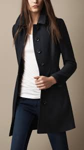 women s blue wool twill dress coat burberry brit navy and coats