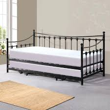 Day Bed Trundle Black Daybed With Trundle Uk Florence Black Single Day Bed With