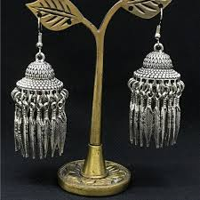 pagoda earrings india woman silver pagoda earrings ear hook boho bird cage