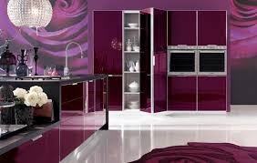 Kitchen Wall Mural Ideas Purple Modern Kitchen Paint Wall Murals Elegant Purple Kitchen