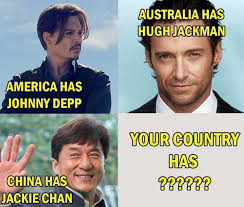 Jackie Chan Meme - dopl3r com memes australia has hughjackman america has johnny