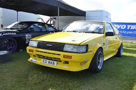 yellow toyota corolla toyota at japfest 2015 toyota