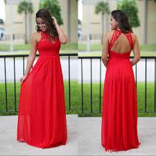 long chiffon country bridesmaid dresses red lace bridesmaids
