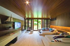 Luxury Wooden Living Room Interior Design Ideas - Wood living room design