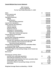 Income Projection Spreadsheet Sample Income Statement Template Dingliyeya Spreadsheet Templates