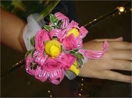 corsage prices pink and yellow wrist corsage