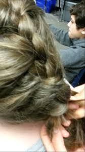 feminization hair i french braided his hair youtube