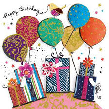 birthday card balloon and presents by paper rose gifts liverpool