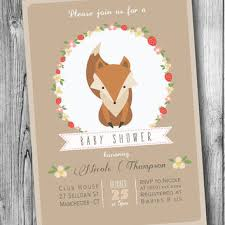 woodland baby shower invitations best baby fox baby shower invitations products on wanelo