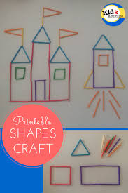 printable shapes craft learning shapes making a princess castle