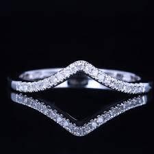 v shaped diamond ring ebay v shape 14k white gold diamonds engagement wedding match
