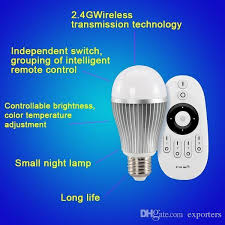 best led light bulb 2 4g wifi remote control brightness dimmer