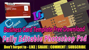 free download latest business cards print ready psd templates easy