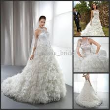 feather wedding dress discount winter luxury a line lace feather wedding dresses high
