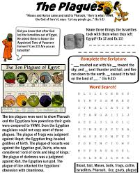 free printable bible worksheet the ten plagues of egypt