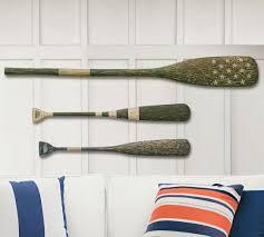 Decorative Canoe Paddles Wooden Oars Set Of 3 Pottery Barn