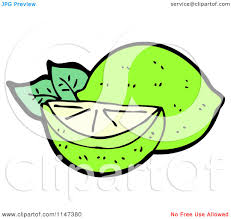 margarita time clipart cartoon of a lime and wedge royalty free vector clipart by