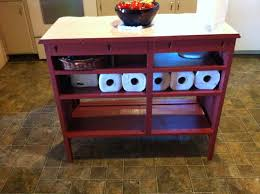 How To Make Kitchen Island From Cabinets by Repurposed Dresser To Chevron Kitchen Buffet With Butcher Block